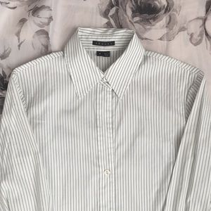Theory Striped Long Sleeve Top